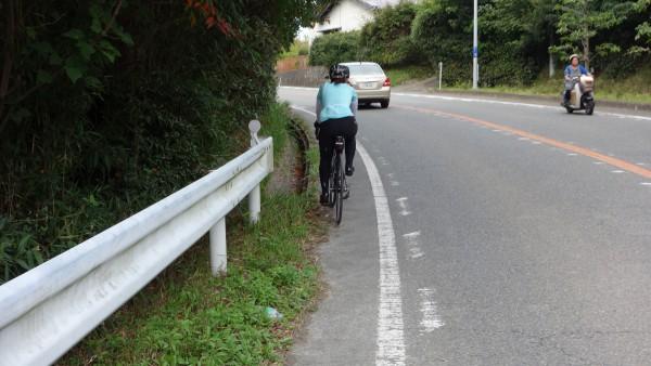 女性サイクリストも