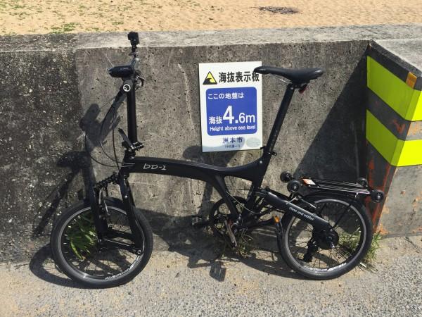 組み立てた状態のbD-1 ALFINE。小径輪という分野の自転車ですが1日100km走行も可能です。