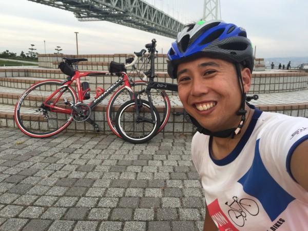 なんとかロードバイクにもついて行くことが出来ました!bD-1 ALFINE 凄い。