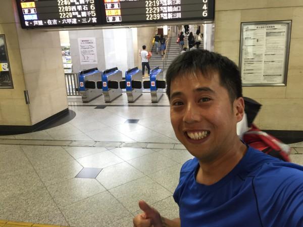 14時間ぶりに大阪駅へもどってきました。