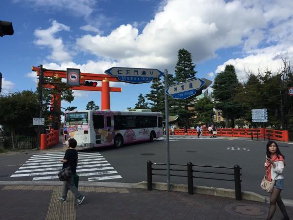 岡崎公園は観光客でおおにぎわいでした!