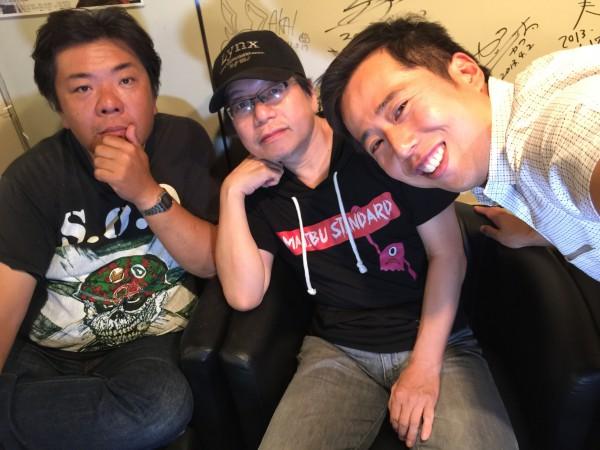 左から山田ジャックさん・竹内義和さん・馬場哲平です。