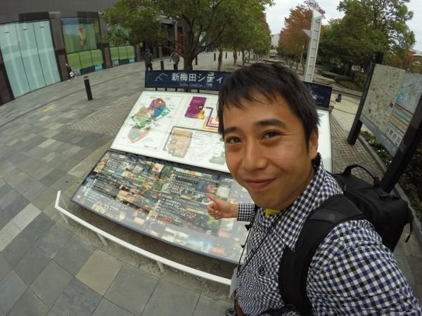 33時間ぶりに大阪に戻ってきました!笑ってるけどなんとなく疲れた顔してますね
