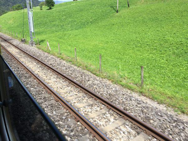 こちらがBOB鉄道の2本線路。平面を走る路線ならではの2本線路です!
